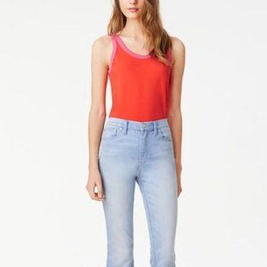 Tory Burch Pink and Orange Lawrence Tank T…